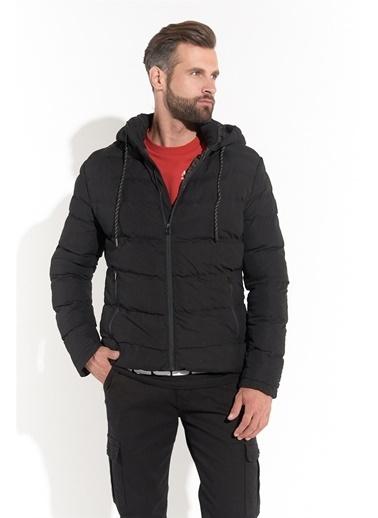 Z Giyim Kapşonlu Şişme Mont Siyah